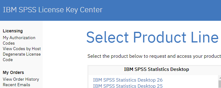 IBM SPSS License Key Center Authorization Codes
