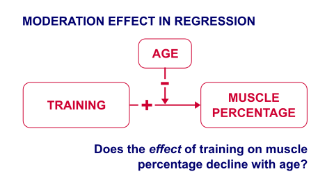 Diagram Illustration a Moderation Effect in Regression