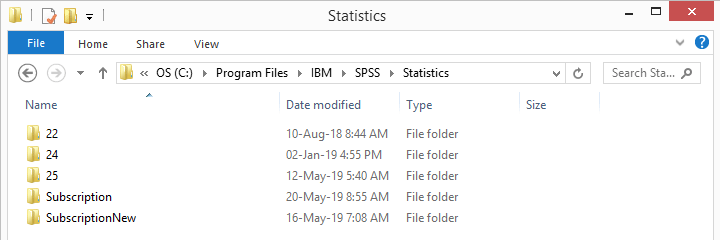 SPSS 26 Subscription No Version Number