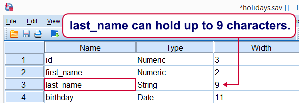 SPSS ALTER TYPE String Length Insufficient