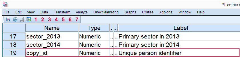 SPSS Clone Variables Tool Result