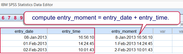 SPSS Combine Date and Time into Datetime