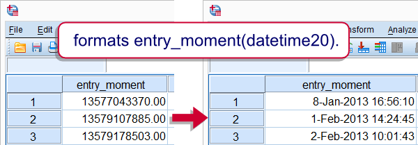 SPSS COMPUTE command datetime variable