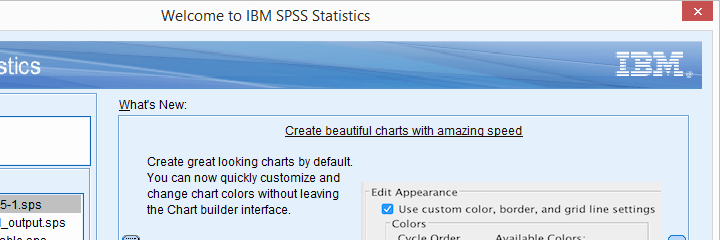 SPSS 25 New Chart Looks