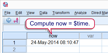 SPSS Current Date and Time
