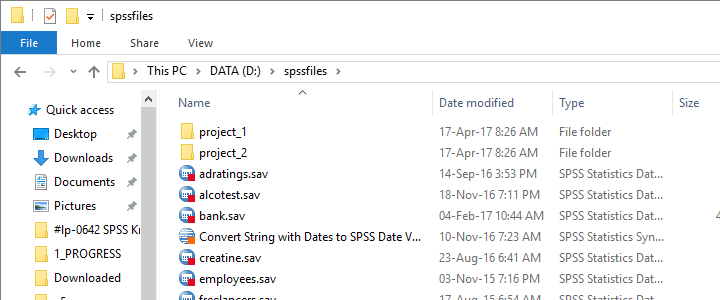 SPSS Data And Syntax Files In Folder