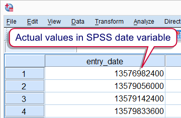 SPSS Date Variabe in F Format