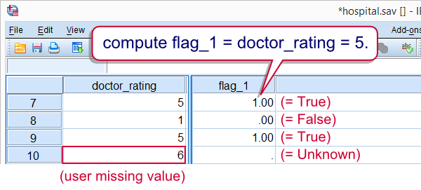 SPSS Dichotomizing Variables
