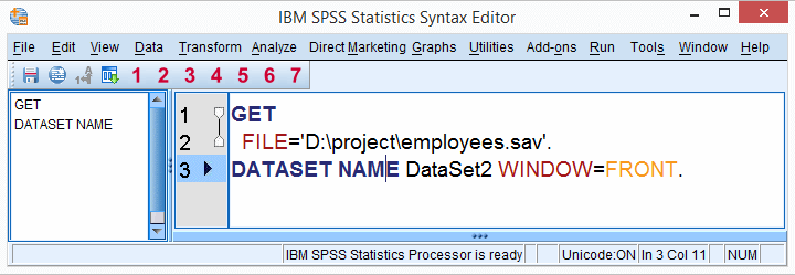 SPSS Syntax Window - Example