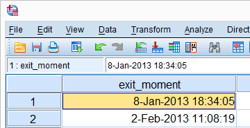 SPSS Numeric Variables Datetime