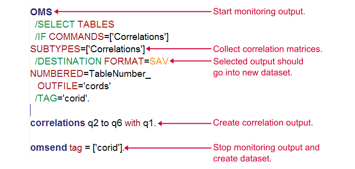 SPSS OMS - OMS Syntax Explained