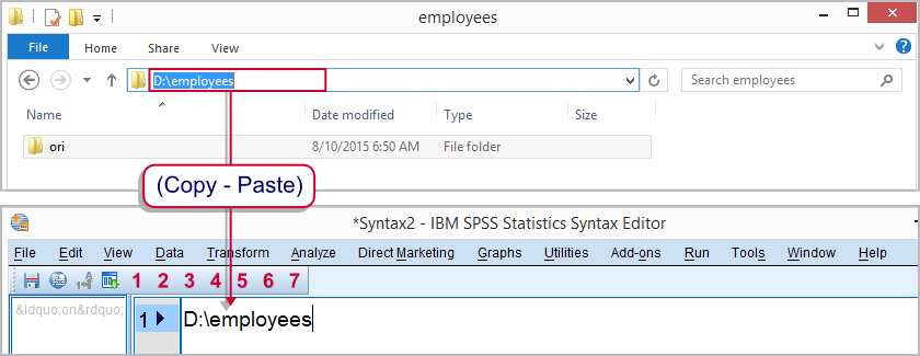 SPSS Open Data with Syntax - Set Default Directory