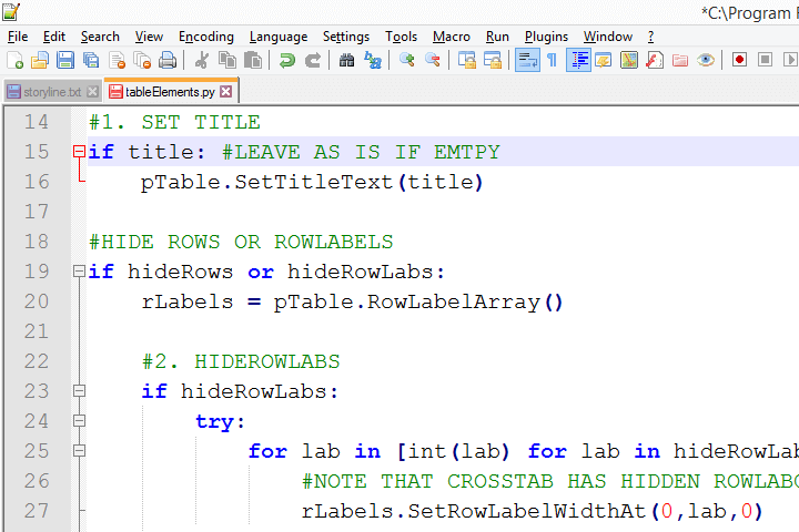 Python Comments in SPSS