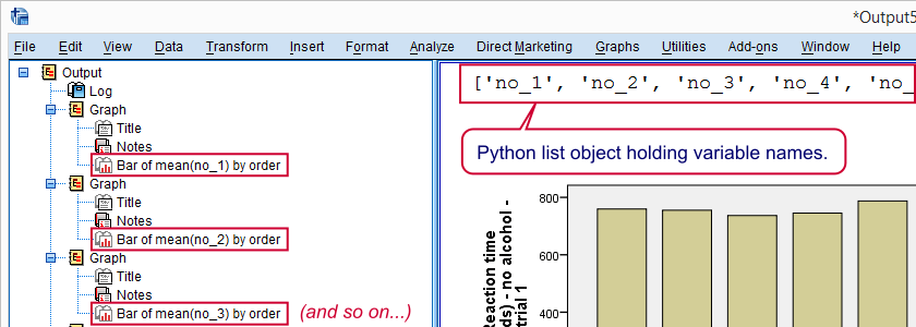 SPSS Python Loop Examples Output 1