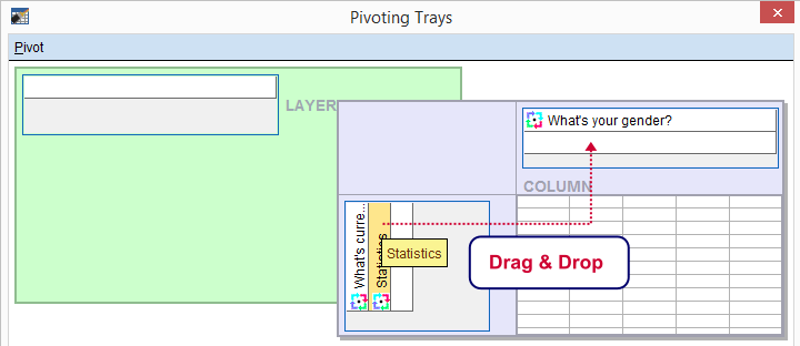 SPSS Rearrange Pivoting Trays