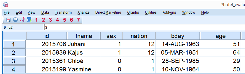 SPSS Reorder Variables by Syntax Data View