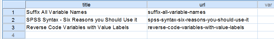 SPSS Replace Function