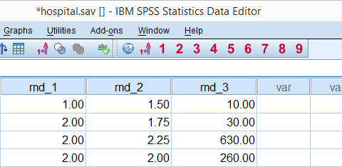 SPSS RND Function Results