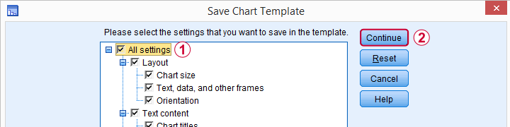 SPSS Save Chart Template All Settings Dialog