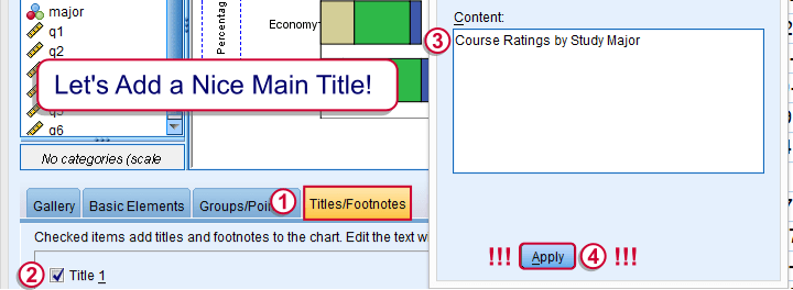 SPSS Stacked Bar Chart - Add Main Title