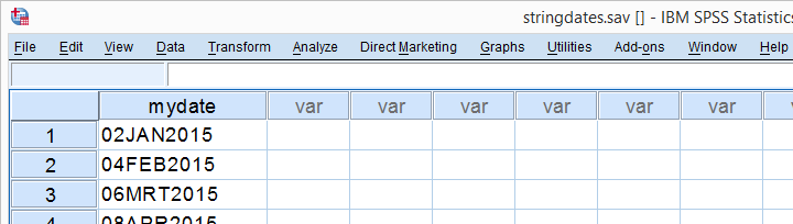 SPSS String to Date Variable Conversion Example