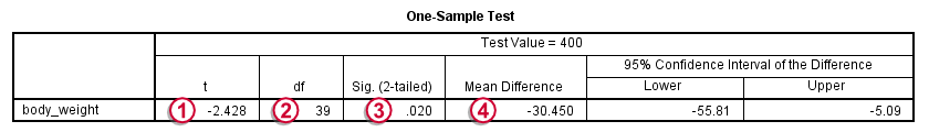 SPSS - What Is It? - T-Test Output